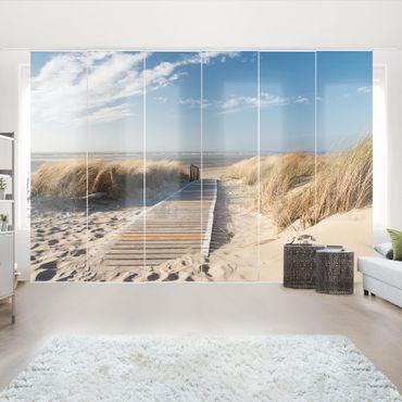 Schiebegardinen Set - Ostsee Strand - Flächenvorhänge