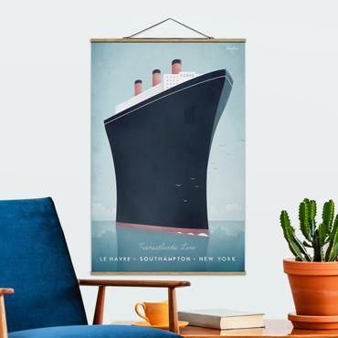 Stoffbild mit Posterleisten - Reiseposter - Kreuzfahrtschiff - Hochformat 3:2