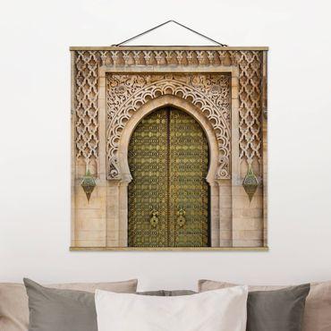Stoffbild mit Posterleisten - Oriental Gate - Quadrat 1:1