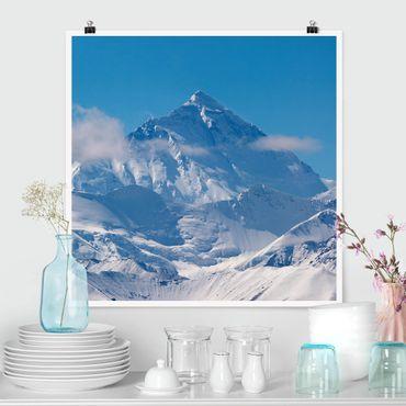 Poster - Mount Everest - Quadrat 1:1
