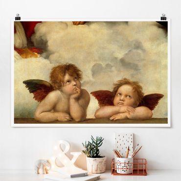 Poster - Raffael - Zwei Engel - Querformat 2:3