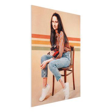 Forex Fine Art Print - Jonas Loose - Retro Mona Lisa - Hochformat 4:3