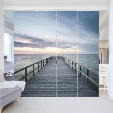 Schiebegardinen Set - Steg Promenade - Flächenvorhänge