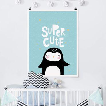 Poster - Super Cute Pinguin - Hochformat 3:4