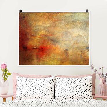 Poster - Joseph Mallord William Turner - Sonnenuntergang über einem See - Querformat 3:4