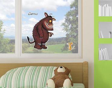 Fensterfolie - Fenstersticker Grüffelo - Groß und Klein - Fensterbilder
