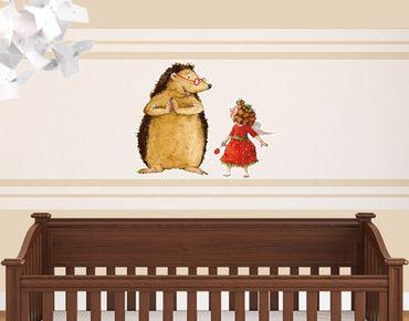 Wandtattoo Kinderzimmer Erdbeerinchen Erdbeerfee - Mit dem Igel Sticker Set