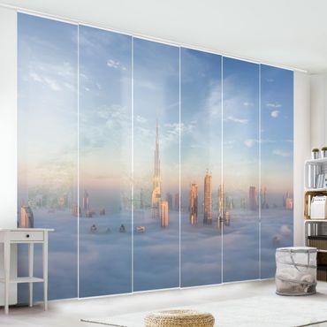Schiebegardinen Set - Dubai über den Wolken - Flächenvorhang
