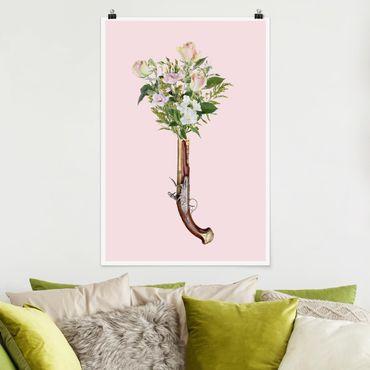Poster - Jonas Loose - Pistole mit Blumen - Hochformat 3:2