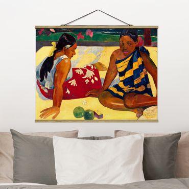 Stoffbild mit Posterleisten - Paul Gauguin - Frauen von Tahiti - Querformat 4:3