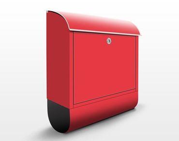 Briefkasten Rot - Colour Carmin - Roter Briefkasten mit Zeitungsfach