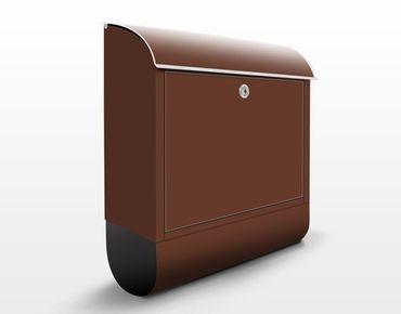 Briefkasten Braun - Colour Chocolate - Brauner Briefkasten mit Zeitungsfach