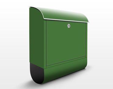 Briefkasten Grün - Colour Dark Green - Grüner Briefkasten mit Zeitungsfach