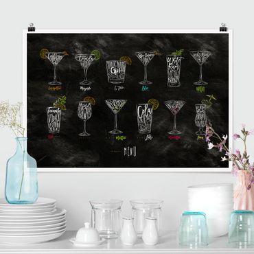 Poster - Cocktail Menu - Querformat 2:3