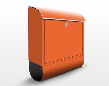Briefkasten Orange - Colour Orange - Oranger Briefkasten mit Zeitungsfach