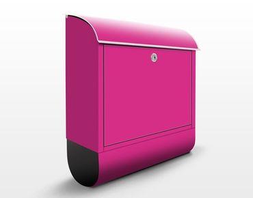 Briefkasten Pink - Colour Pink - Pinker Briefkasten mit Zeitungsfach