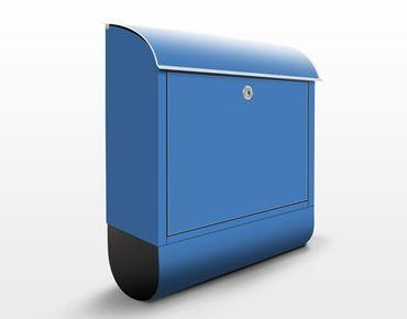 Briefkasten Blau - Colour Royal Blue - Blauer Briefkasten mit Zeitungsfach