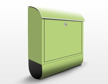 Briefkasten Grün - Colour Spring Green - Grüner Briefkasten mit Zeitungsfach