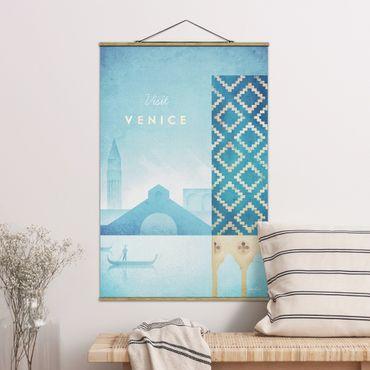 Stoffbild mit Posterleisten - Reiseposter - Venedig - Hochformat 3:2