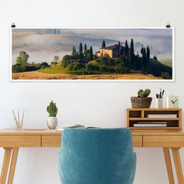 Poster - Landgut in der Toskana - Panorama Querformat