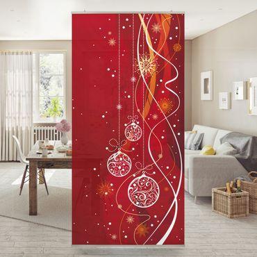 Raumteiler - Weihnachtliche Dekoration 250x120cm