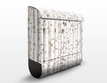 Briefkasten Holz - No.YK15 Birkenwand - Wandbriefkasten