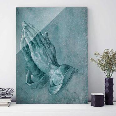 Glasbild - Albrecht Dürer - Studie zu Betende Hände - Hochformat 4:3