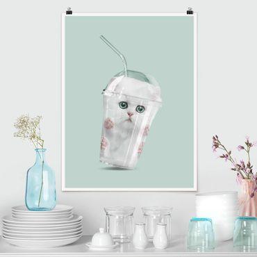 Poster - Jonas Loose - Shake mit Katze - Hochformat 3:4