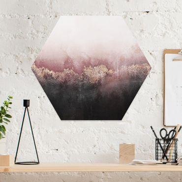 Hexagon Bild Forex - Goldene Dämmerung Rosa