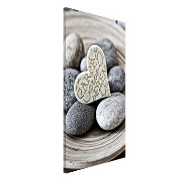 Magnettafel - Carpe Diem Herz mit Steinen - Memoboard Hochformat 4:3