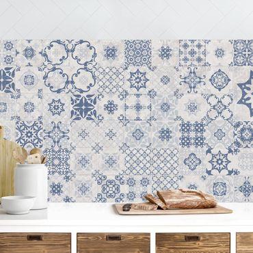 Küchenrückwand - Keramikfliesen Agadir blau