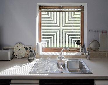 Fensterfolie - Fenstertattoo No.UL1055 Quadrat II - Milchglasfolie