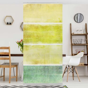 Raumteiler - Colour Harmony Yellow 250x120cm