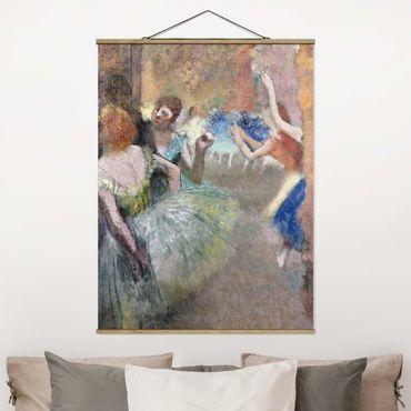 Stoffbild mit Posterleisten - Edgar Degas - Ballettszene - Hochformat 3:4