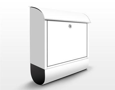 Briefkasten Weiß - Colour White - Weißer Briefkasten mit Zeitungsfach