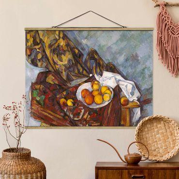 Stoffbild mit Posterleisten - Paul Cézanne - Stillleben Früchte - Querformat 3:4