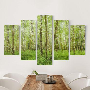Leinwandbild 5-teilig - Hoh Rainforest Olympic National Park