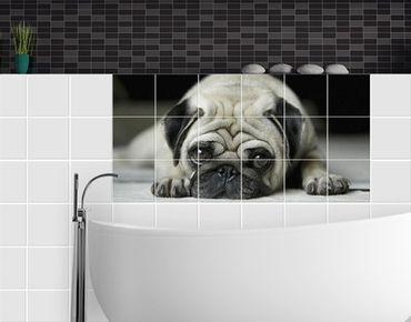 Fliesenbild - Pug Loves You