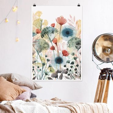 Poster - Wildblumen im Sommer I - Hochformat 3:2