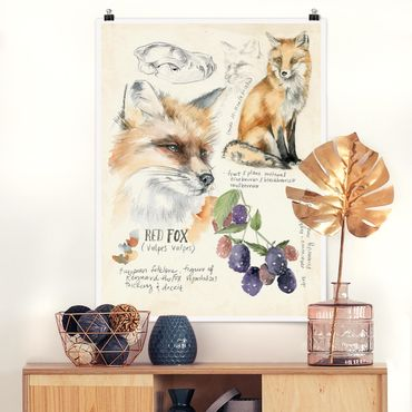 Poster - Wildnis Journal - Fuchs - Hochformat 3:4