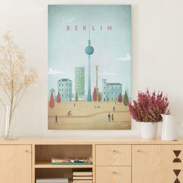 Leinwandbild - Reiseposter - Berlin - Hochformat 3:2