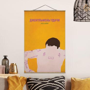 Stoffbild mit Posterleisten - Filmposter Gentlemen der Erfolge II - Hochformat 3:2