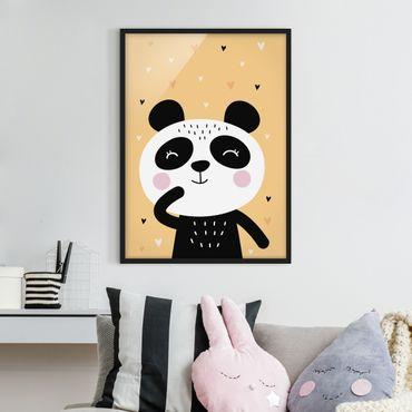 Bild mit Rahmen - Der glückliche Panda - Hochformat 3:4