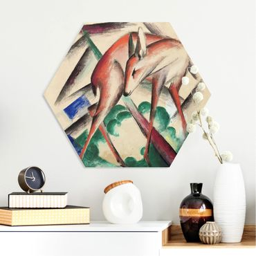 Hexagon Bild Forex - Franz Marc - Reh