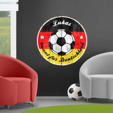 Wandtattoo Fußball - ...brennt für Deutschland Wunschtext