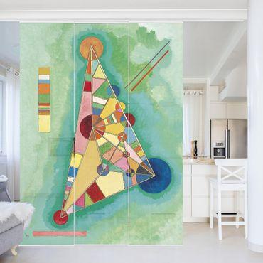 Schiebegardinen Set - Wassily Kandinsky - Bunt im Dreieck - Flächenvorhänge