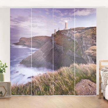 Schiebegardinen Set - Steilküste und Leuchtturm - Flächenvorhänge