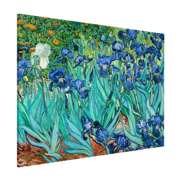 Magnettafel - Vincent van Gogh - Iris - Memoboard Querformat 3:4