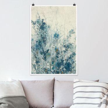 Poster - Blaue Frühlingswiese I - Hochformat 3:2