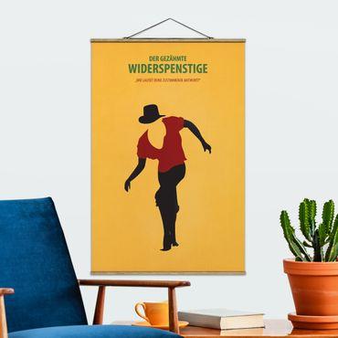 Stoffbild mit Posterleisten - Filmposter Der gezähmte Widerspenstige - Hochformat 3:2